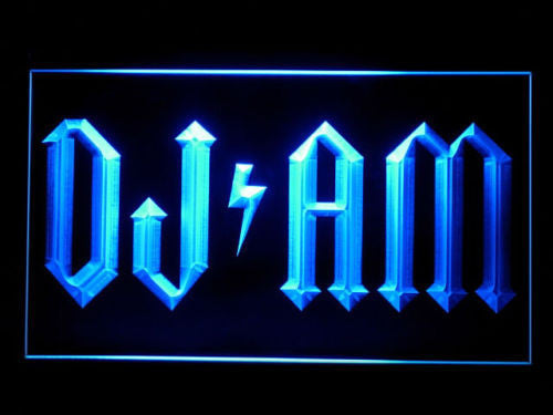 DJ AM LED Sign - Blue - TheLedHeroes