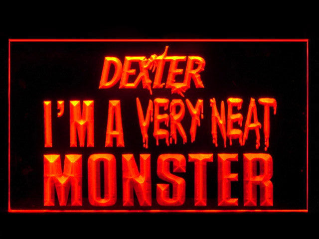 Dexter Morgan Neat Monster LED Sign -  Red - TheLedHeroes