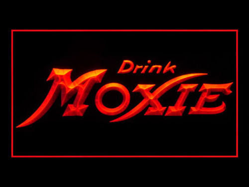Drink Moxie LED Sign - Red - TheLedHeroes