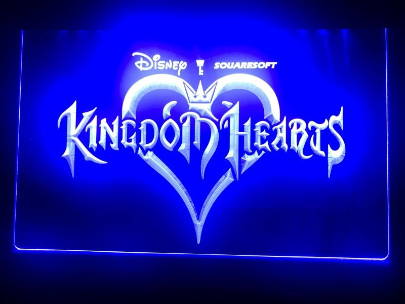 Kingdom Hearts Sora Video Games LED Neon Sign USB - Blue - TheLedHeroes