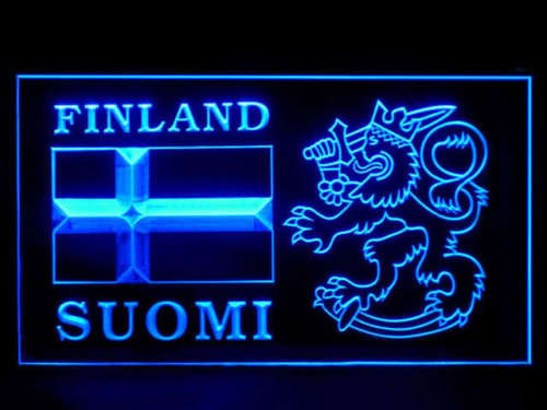 FREE Finland Suomi LED Sign -  - TheLedHeroes