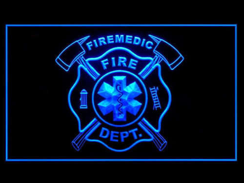 FREE FireMedic LED Sign - Blue - TheLedHeroes