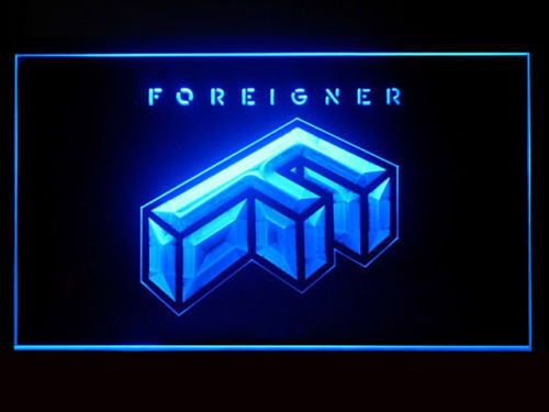 Foreigner LED Sign - Blue - TheLedHeroes