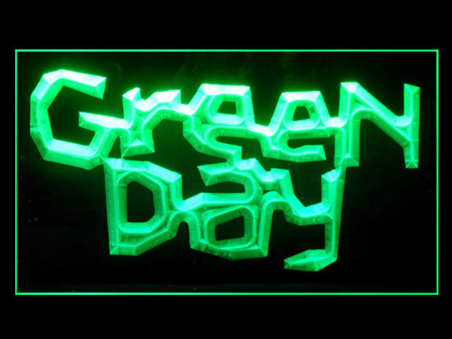 Green Day Music Rock Roll LED Sign -  Green - TheLedHeroes