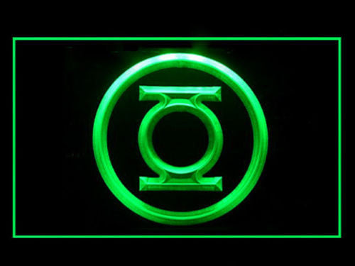 Green Lantern LED Sign - Green - TheLedHeroes