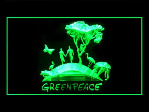 Green Peace LED Neon Sign USB -  - TheLedHeroes