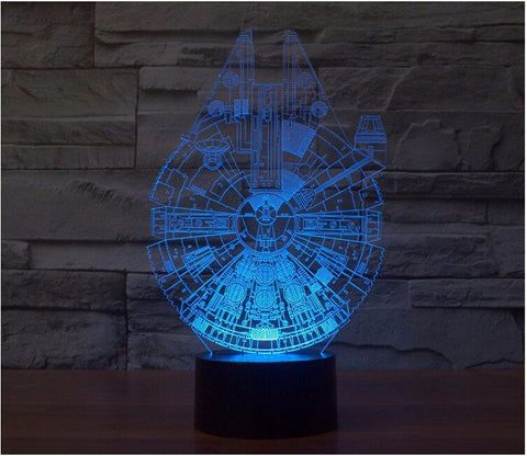 Millennium Falcon 3D LED LAMP -  - TheLedHeroes