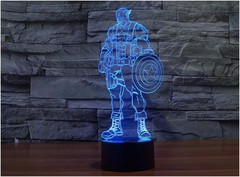 Captain America body 3D LED LAMP -  - TheLedHeroes