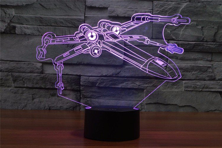X-Wing 3D LED LAMP -  - TheLedHeroes