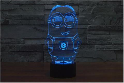 Free Shipping Despicable Me Handmade Minions Gift Night Light Minion Comic Lamp Led Display Light Sign