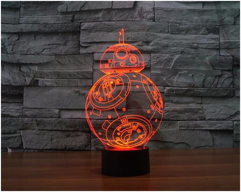 BB-8 3D LED LAMP -  - TheLedHeroes