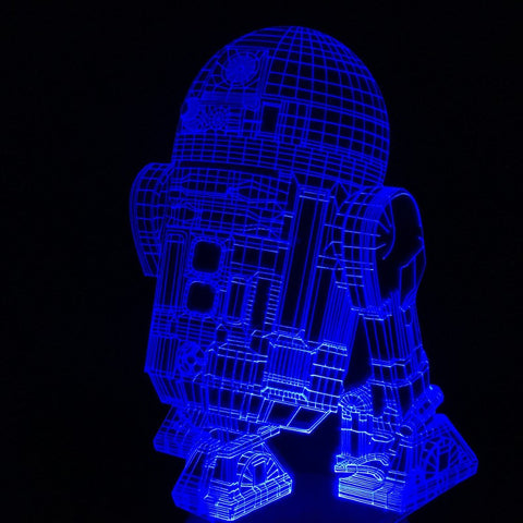 R2-D2 3D LED LAMP -  - TheLedHeroes