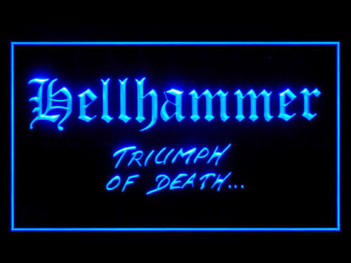 Hellhammer LED Sign - Blue - TheLedHeroes