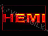 Hemi LED Sign