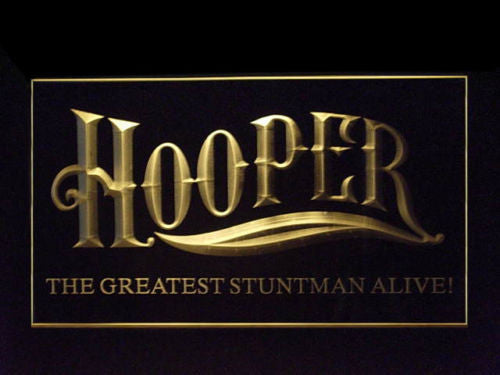 Hooper Burt Reynolds Stuntman LED Sign - Multicolor - TheLedHeroes