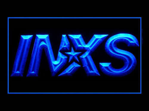 INXS LED Sign - Blue - TheLedHeroes