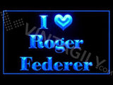 FREE I Love Roger Federer LED Sign - Blue - TheLedHeroes