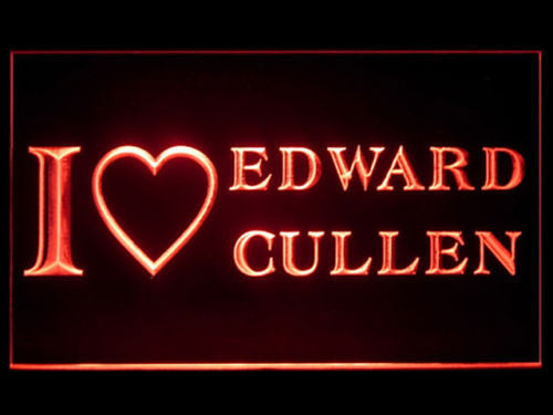 I love Edward Cullen LED Sign - Red - TheLedHeroes