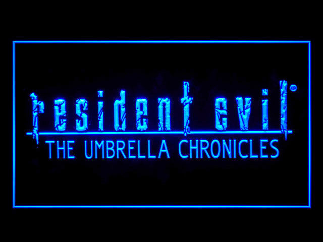 Resident Evil The Umbrella Chronicles LED Sign -  Blue - TheLedHeroes
