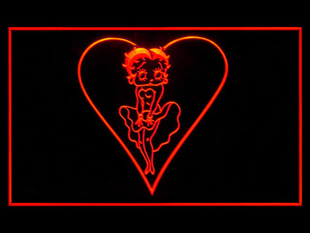 Betty Boop 2 LED Sign - Red - TheLedHeroes