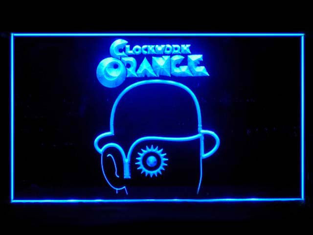 A Clockwork Orange LED Sign -  Blue - TheLedHeroes