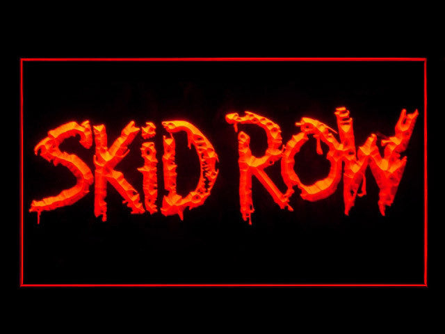 Skid Row LED Sign -  Red - TheLedHeroes