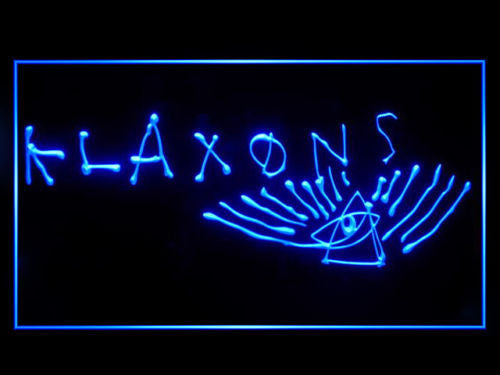 FREE Klaxons LED Sign - Blue - TheLedHeroes