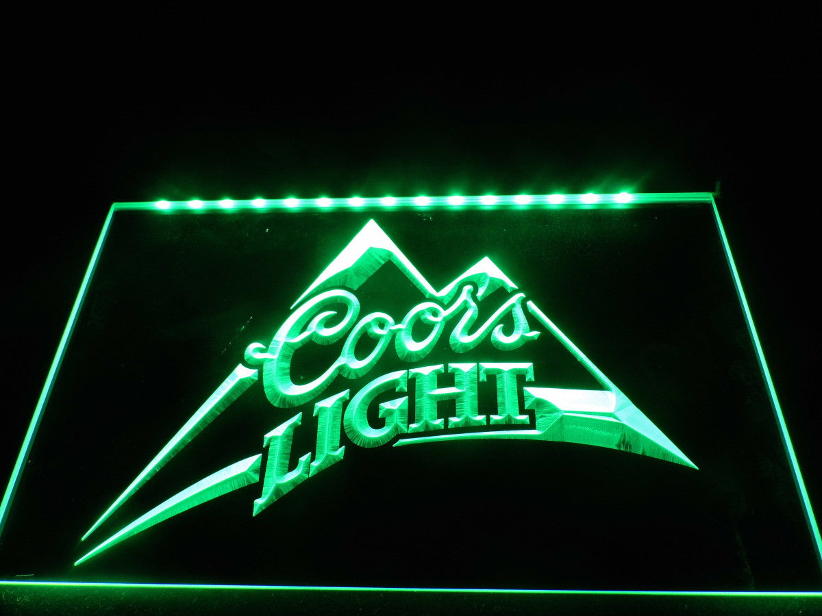 Coors Light Beer Bar Pub Logo LED Sign | The perfect gift