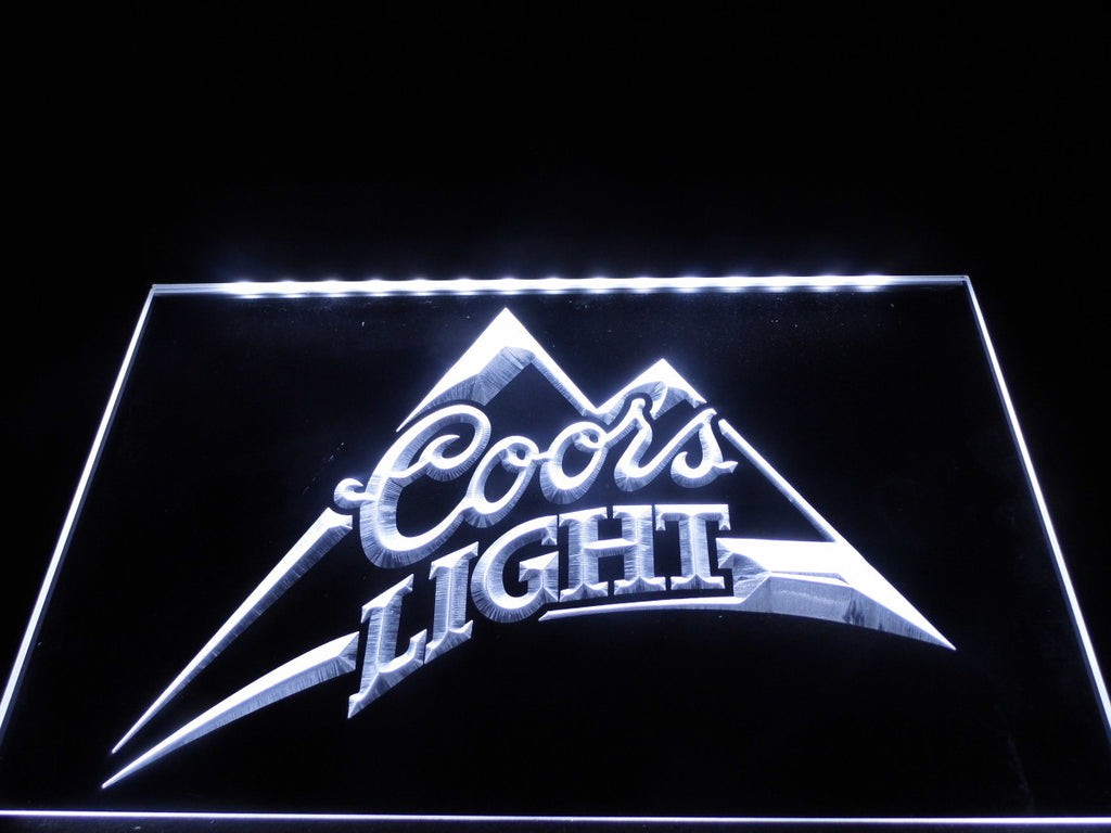 Coors Light Beer Bar Pub Logo LED Sign - White - TheLedHeroes
