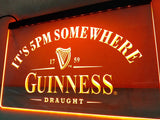 Guinness It's 5 pm Somewhere Bar LED Sign