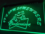 Budweiser Frog It's 5 pm Somewhere LED Sign -  - TheLedHeroes