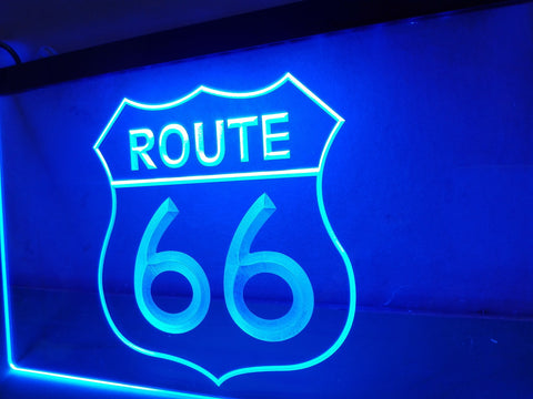 Route 66 Mother Road LED Neon Sign On/Off Switch 7 Colors