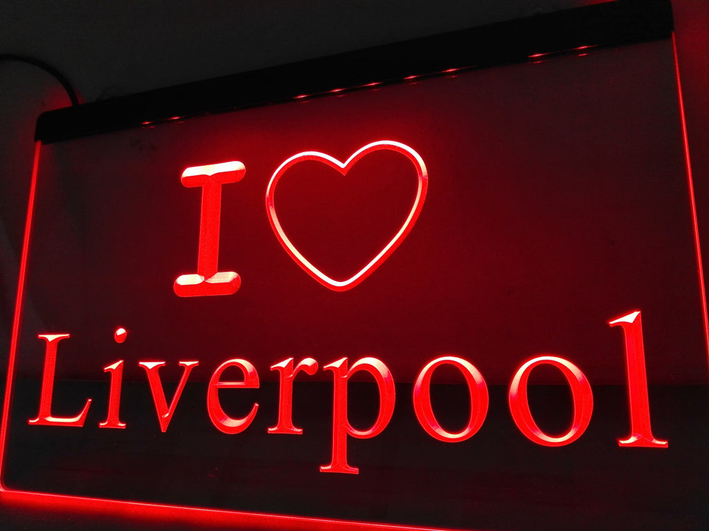 I Love Liverpool LED Sign - Red - TheLedHeroes