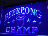 Beer Pong Champ Beer Bar LED Sign - Blue - TheLedHeroes