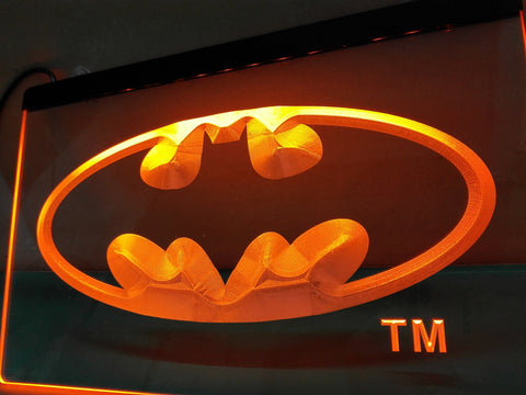 Batman Hero Man Cave LED Sign - Orange - TheLedHeroes