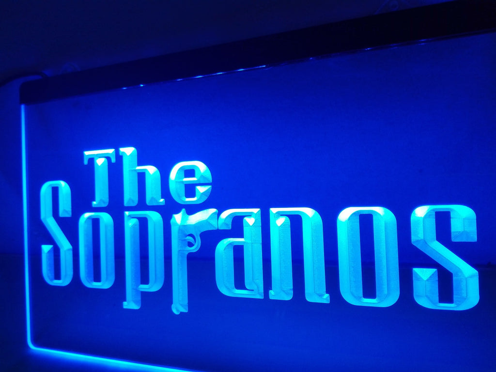 The Sopranos LED Sign - Blue - TheLedHeroes