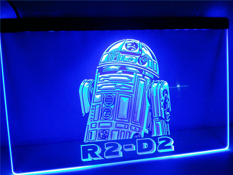 Star Wars R2-D2 Display Rare LED Sign - Blue - TheLedHeroes