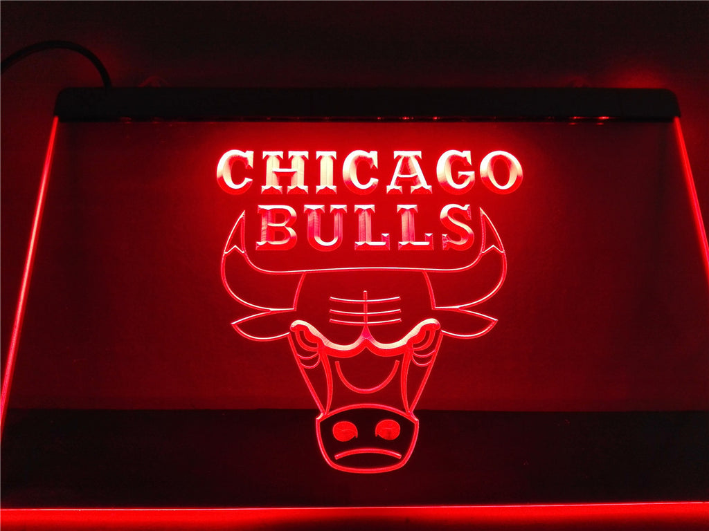 Chicago Bulls LED Sign - Red - TheLedHeroes