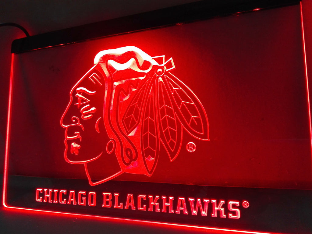 Chicago Blackhawks LED Sign - Red - TheLedHeroes