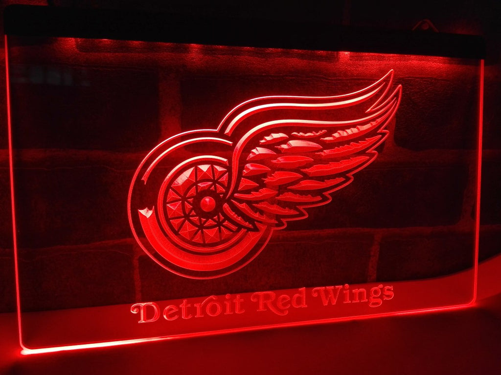 Detroit Red Wings LED Sign - Red - TheLedHeroes