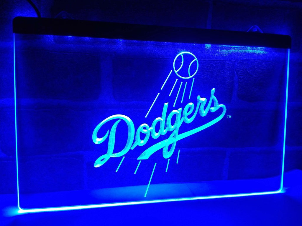 Los Angeles Dodgers LED Neon Sign USB - Blue - TheLedHeroes