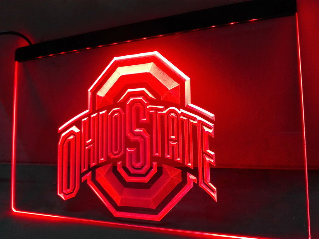Ohio State LED Sign - Red - TheLedHeroes