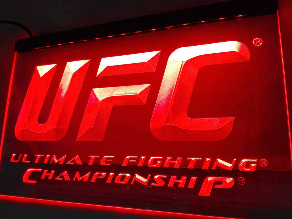 FREE UFC LED Sign - Red - TheLedHeroes