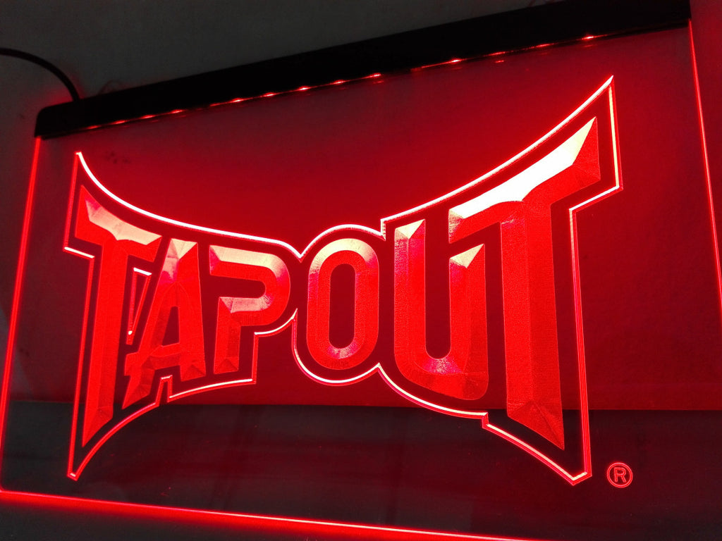Tapout LED Sign - Red - TheLedHeroes
