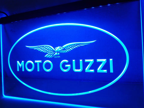 Moto Guzzi Motorcycle LED Neon Sign with On/Off Switch 7 Colors to choose
