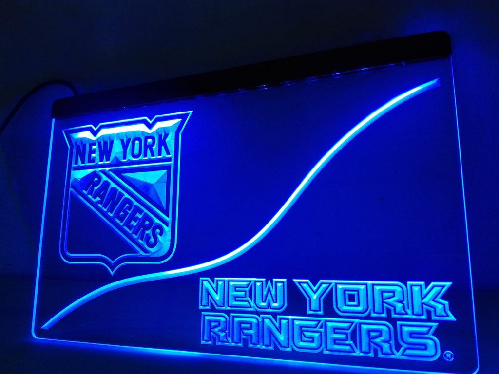 New York Rangers LED Neon Sign USB - Blue - TheLedHeroes