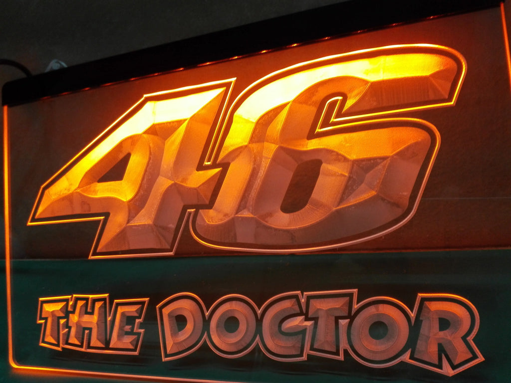 Valentino Rossi The Doctor 46 LED Sign - Orange - TheLedHeroes
