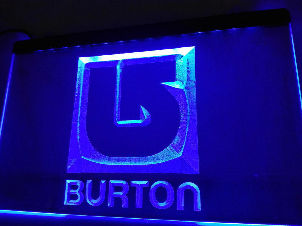 Burton Snowboarding LED Sign - Blue - TheLedHeroes