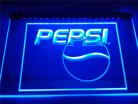 FREE Pepsi Cola Logo Drink Decor LED Sign -  - TheLedHeroes