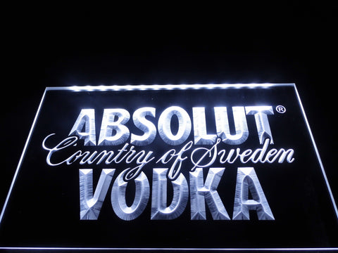 Absolut Vodka Country of Sweden Beer LED Neon Bar Sign with On/Off Switch 7 Colors to choose